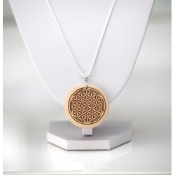 NEW FLOWER OF LIFE PENDANT FOL SACRED GEOMETRY WOODEN MADE PREMIUM JEWELLERY